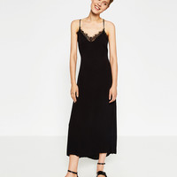 DRESS WITH LACE BACK - DRESSES-SALE-WOMAN | ZARA United States