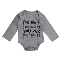 You Ain't Cool Unless You Pee Your Pants Onesuit