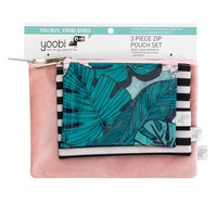 3pc 1-Zipper Pencil Case Tropical - Yoobi™