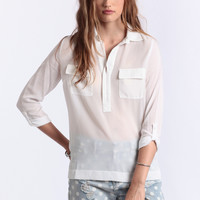 Blank Page White Blouse