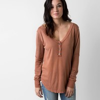 Gilded Intent Washed Thermal Henley Top