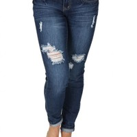New Americana Distressed Skinny Jeans | Monday Dress Boutique