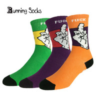 Summer style skate socks New FUCK OFF Middle finger DGK high quality cotton harajuku weed socks men calcetines B3-1
