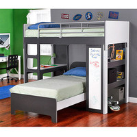 Walmart: Yale Twin Bunk Bed with Workstation