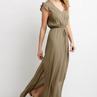 Crochet-Trimmed Gauze Maxi Dress
