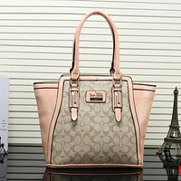 Perfect Coach Women Shopping Leather Tote Handbag Satchel Shoulder Bag