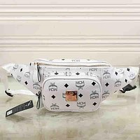 MCM Women Fashion Leather Waist Bag Satchel Single Shoulder Bag Crossbody