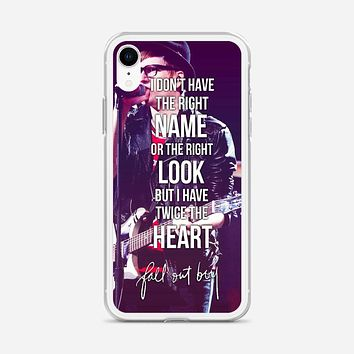 Fall Out Boy Lyric Cover iPhone XR Case