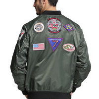 NEW FLIGHT JACKET MA1 PATCHES ARMY STYLE AIR FORCE PILOT BOMBER TOP GUN JACKET