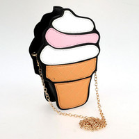 Ice cream clutch purse handbag purse