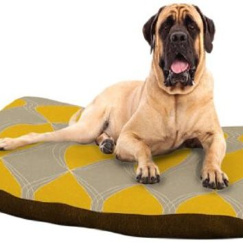 """Kess InHouse Julia Grifol """"Geometries in Yellow"""" Dog Bed, 50 by 60-Inch"""