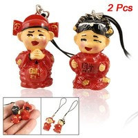 Gino Wedding Couples Pendant Lovers Phone Strap Charms Red