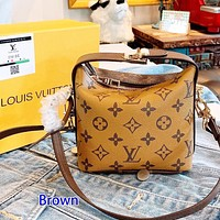 LV lunch box bag spring/summer 2020 new Hobo handbag brown