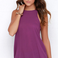 At First Crush Purple Top