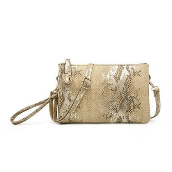 West River Convertible Clutch - Snakeskin