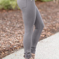 Perfect Fit Jeggings Charcoal