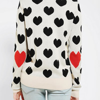 Urban Outfitters - Pins And Needles Hearts Elbow-Patch Sweater
