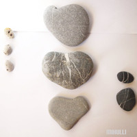 natural heards beach stones wall decor for your lovely home
