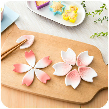 Japanese Cherry Petals Ceramic Chopstick Holder