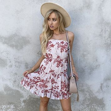 Have Mercy Floral Strapless Dress