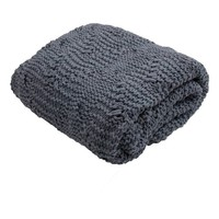 Blue Favorite Cable Knit Sweater Throw