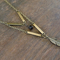 Hieroglyph Necklace - Bronze