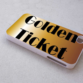 golden tiket case for iPhone 4/4s/5/5s/5c/6/6+ case,iPod Touch 5th Case,Samsung Galaxy s3/s4/s5/s6Case, Sony Xperia Z3/4 case, LG G2/G3 case, HTC One M7/M8 case
