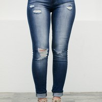 Holly Distressed Skinny Denim
