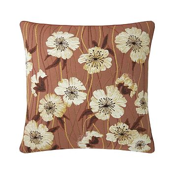 Alba Rose Cèdre Decorative Pillow by Iosis