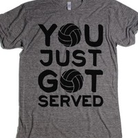 You Just Got Served-Unisex Athletic Grey T-Shirt