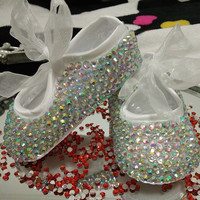 princess style,Pure handmade Rhinestone baby toddler shoes soft sole children soft bottom shoes. You can customize name