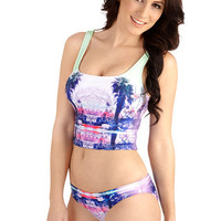 Seafolly Tank top (2 thick straps) Brightest on the Beach Swimsuit Top