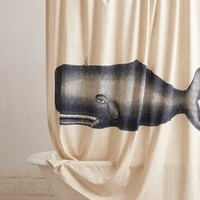 Thomas Paul Moby Shower Curtain in Navy Size: One Size Shower Curtains