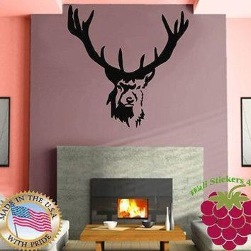 Wall Stickers Vinyl Decal Elk Deer Animal Forest Hunting Kids  Mural  Unique Gift z676