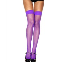 Solid Fishnet Rave Stocking Thigh High