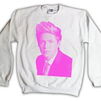 One Direction Niall Horan Pink Print 015 Sweatshirt x Crewneck x Jumper x Sweater - All Sizes Available
