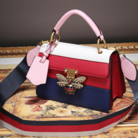 Coloured leather bag Bee bag small bag shoulder bag