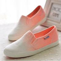 Fashion Gradient low canvas shoes