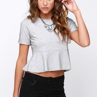 Casual Suspects Heather Grey Top