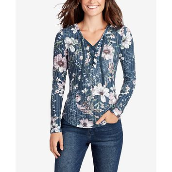 WILLIAM RAST  Printed Lace-Up Top