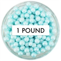 Pearly Pastel Blue Sugar Pearls 1 LB