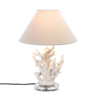 WHITE CORAL TABLE LAMP