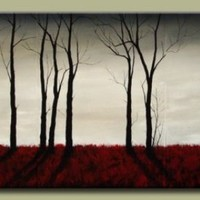 Buy On the Horizon A red Abstract Landscape Every Room needs a Touch of Red 4 feet wide by DROB on Shoply.