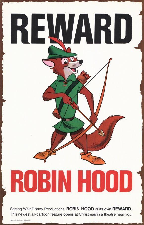 Image of Robin Hood 11x17 Movie Poster (1973)