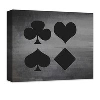 Card Suits Canvas Wall Art