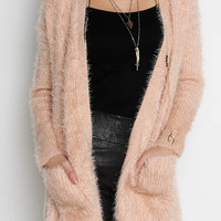 Mink Pink Soft Serve Fluffy Cardigan