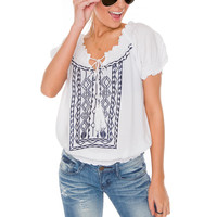 Shauna Aztec Top
