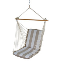 Cushioned Single Swing Chair, Sand, Outdoor Porch Swings