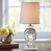 CARLOTTA FACETED CRYSTAL ACCENT LAMP