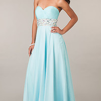 Strapless Sweetheart Bodice Pageant Gown by Alyce